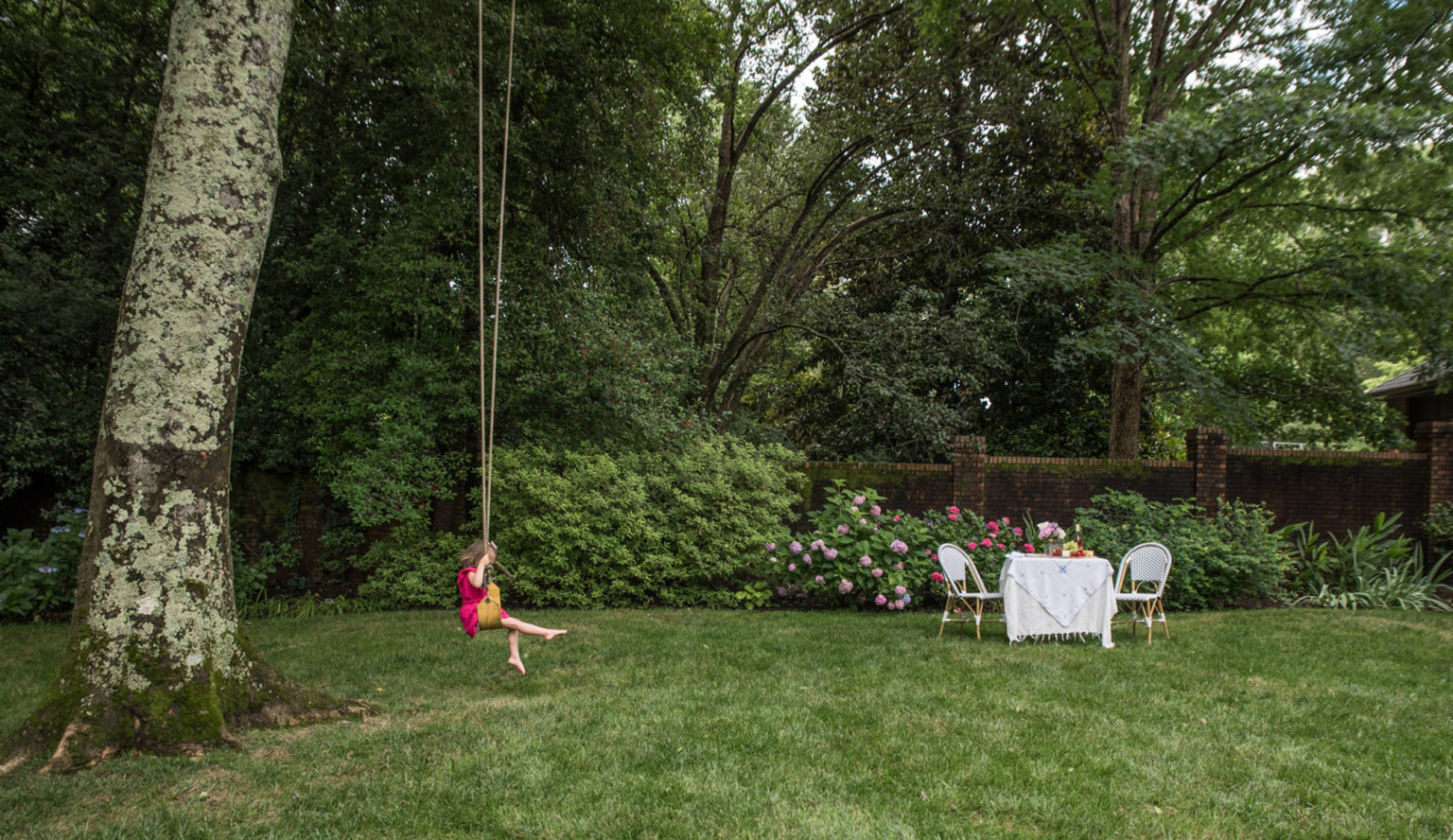 outdoor yard with swing