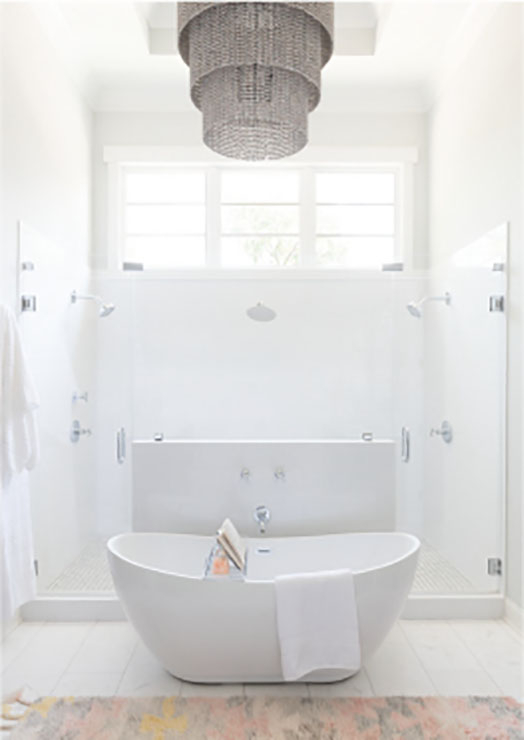 white bathroom design in charlotte