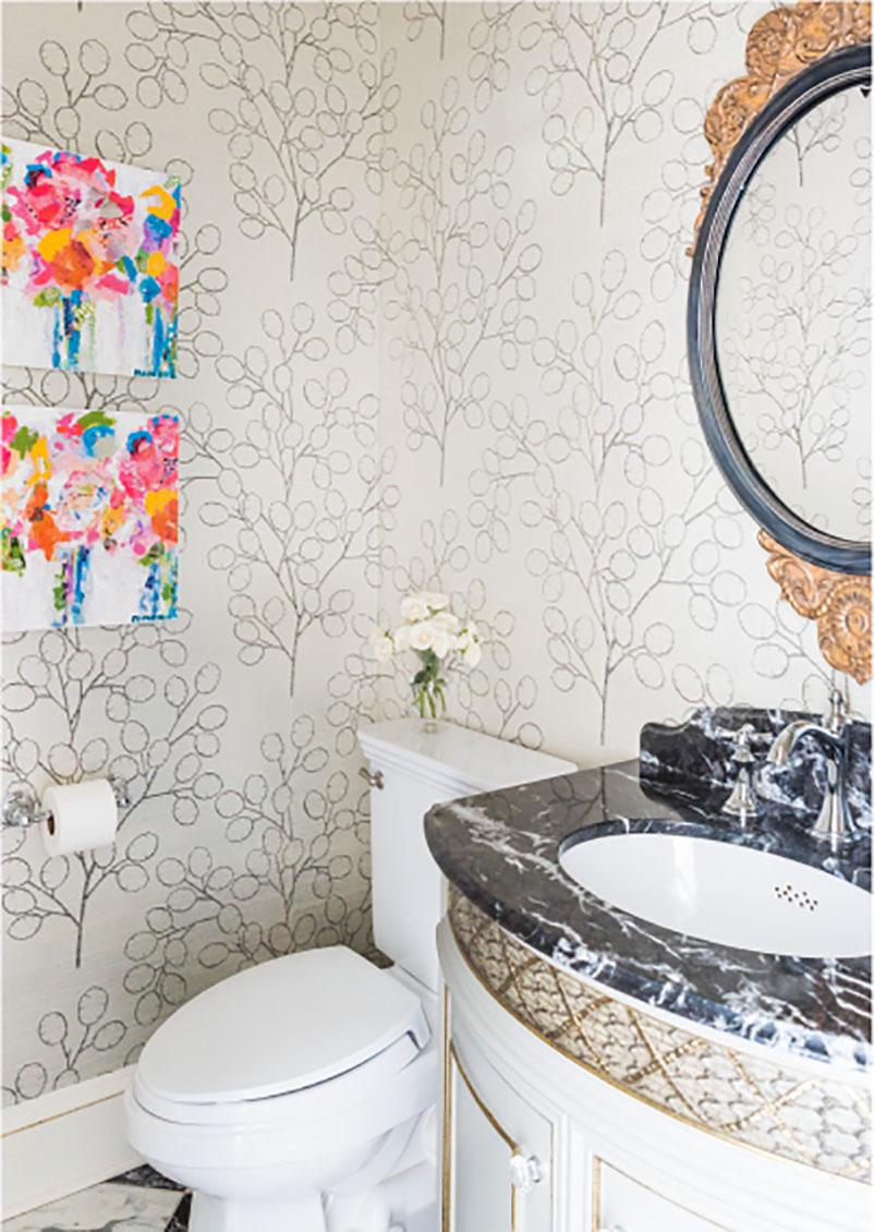colorful modern bathroom design