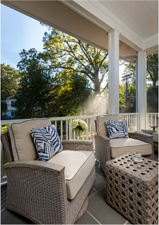 screen porch interior design