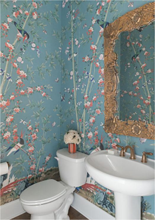 floral bathroom design