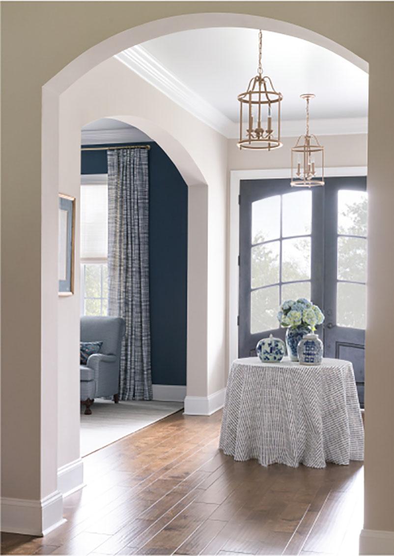 blue foyer design