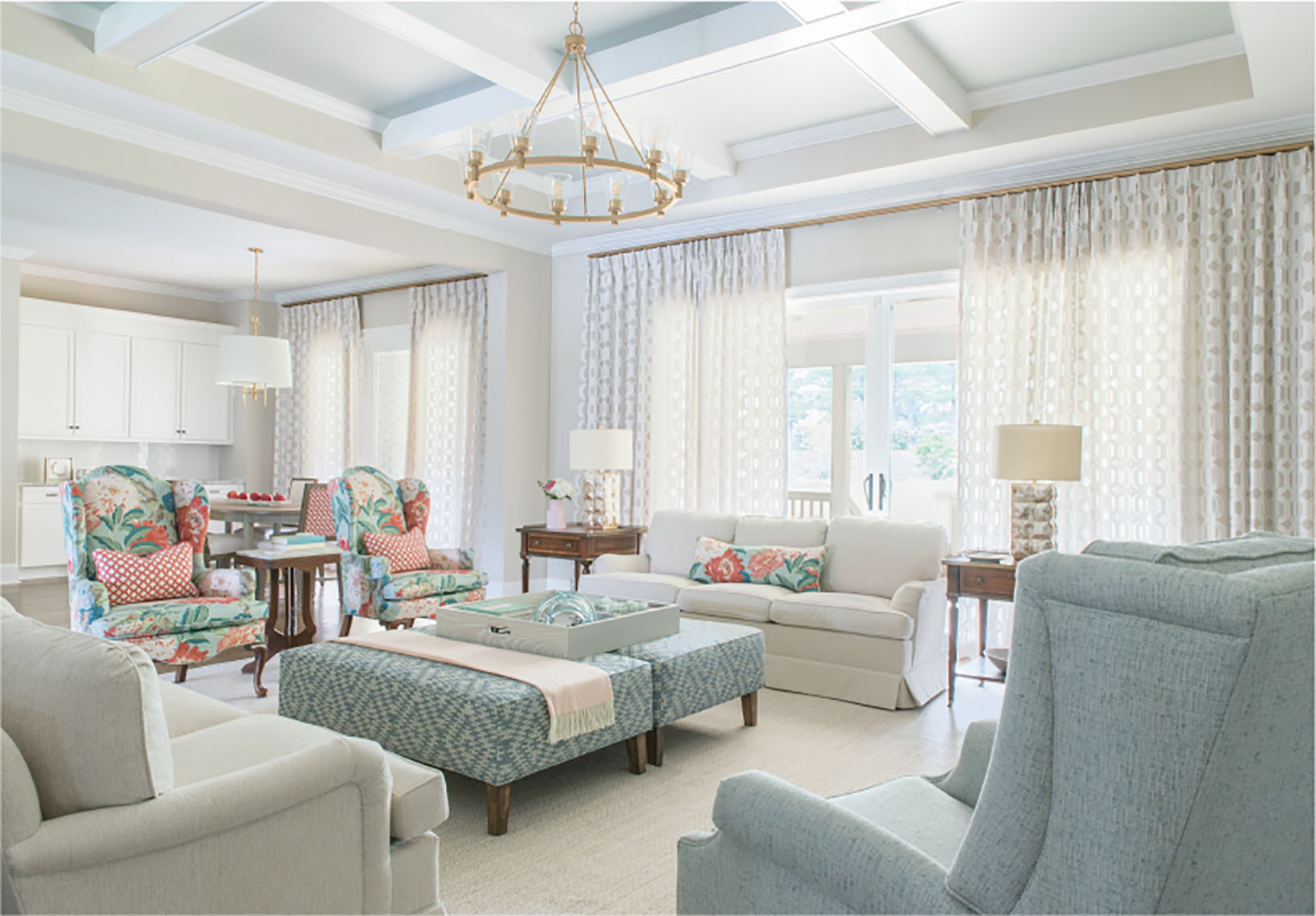 charlotte nc traditional living room design